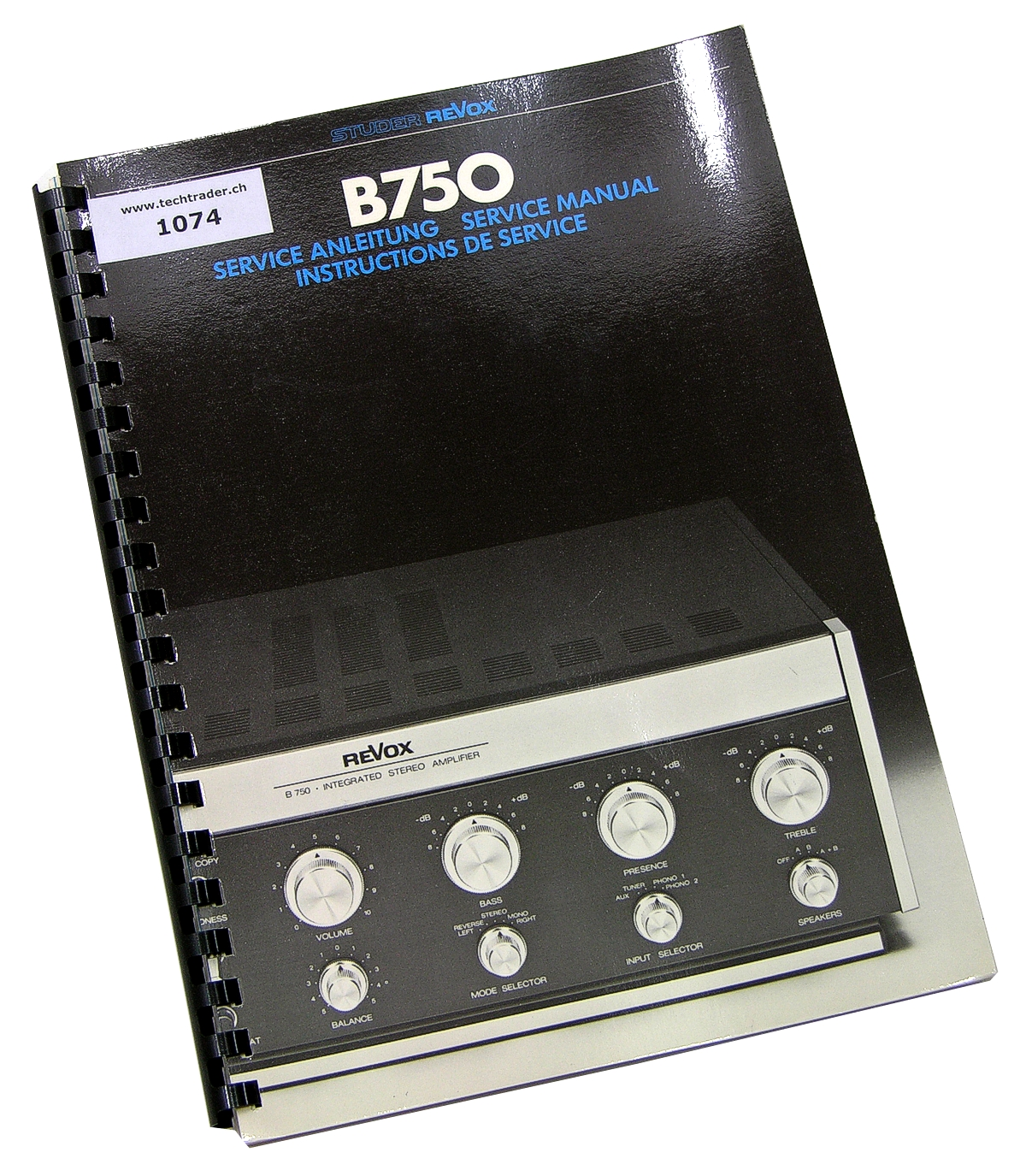 revox b750 amplifier original service instructions ebay. Black Bedroom Furniture Sets. Home Design Ideas